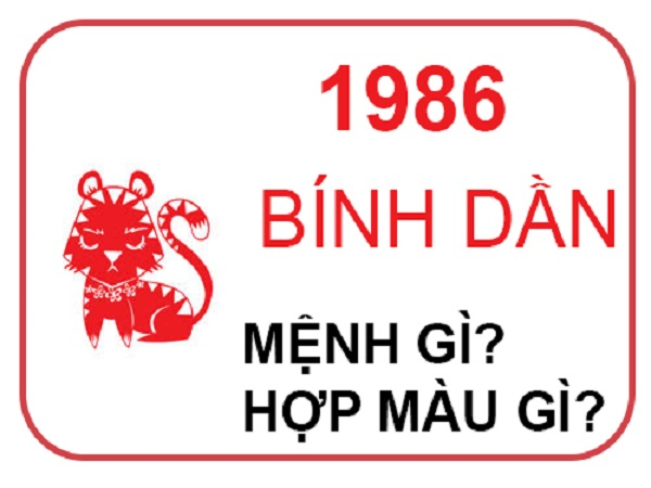 sinh năm 1986 mệnh gì