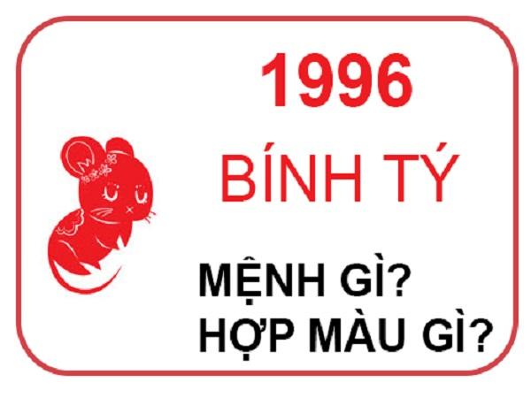 sinh năm 1996 mệnh gì