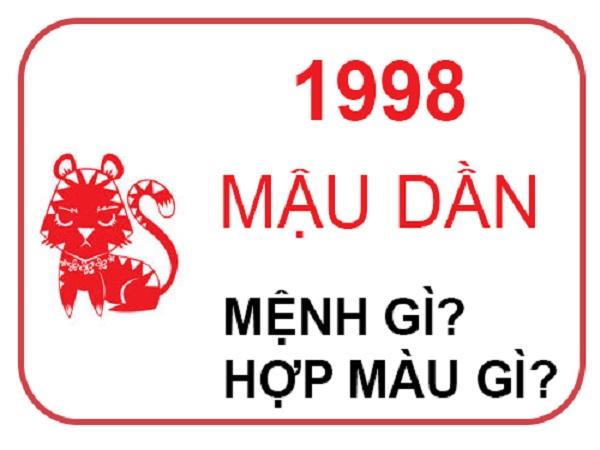 sinh năm 1998 mệnh gì