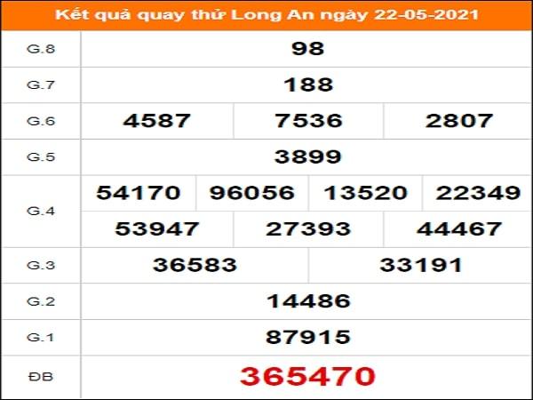 Quay thử kết quả xổ số tỉnh Long An ngày 22/5/2021